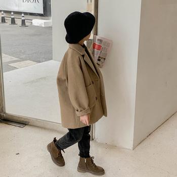 男童秋冬2020韩版洋气呢子呢大衣