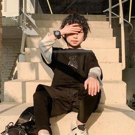男童长袖T恤2021春季新款假两件镭射儿童韩版中大童春装潮童上衣