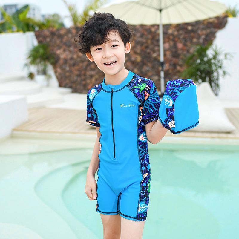 券后68.00元男童中小童连体专业学训练儿童泳衣