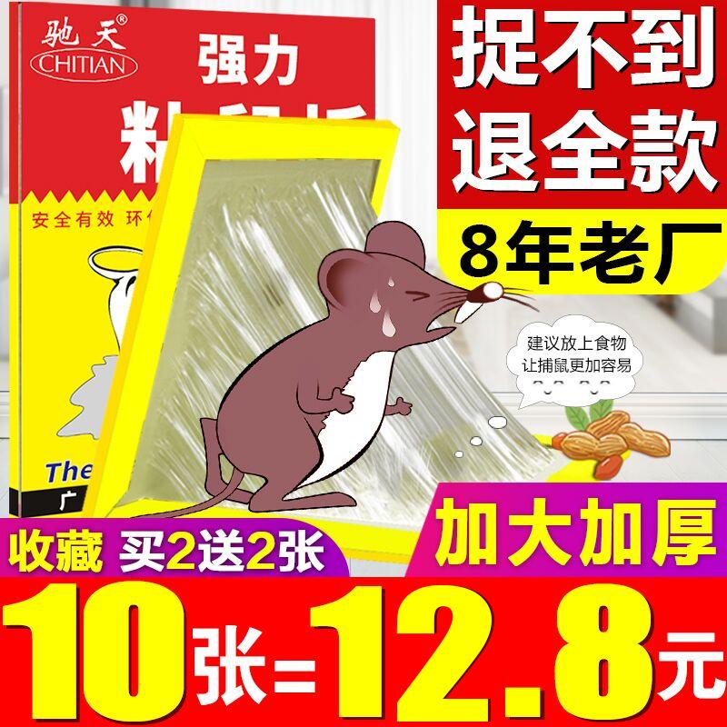 强力粘鼠板抓粘大老鼠贴沾胶笼灭捕鼠老鼠克星强力正品家用一窝端
