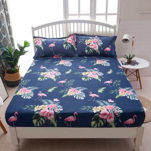 床笠纯棉单件 全棉床罩印花床单1.8m席梦思床套1.5床垫防尘保护套