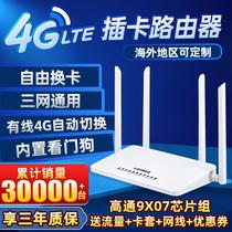 4g无线路由器插卡转有线移动wifi联通电信合家享全网通家用企业宽带手机监控无限流量上网2穿墙神器工业级cpe