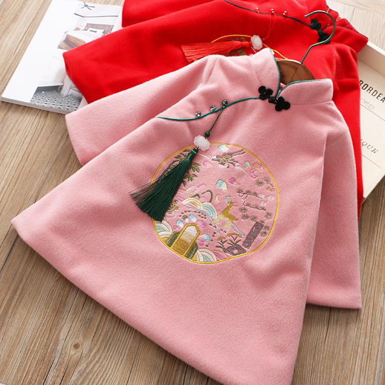 3女童加厚旗袍連衣裙4冬裝兒童新年唐裝5中國風女寶寶公主裙子7歲