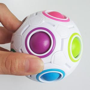 魔域文化智力儿童玩具益智减压魔方魔法彩虹球创意手指足球异形