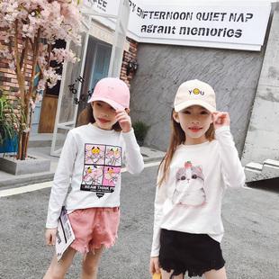 2020新款中大童纯棉宝宝白色打底衫