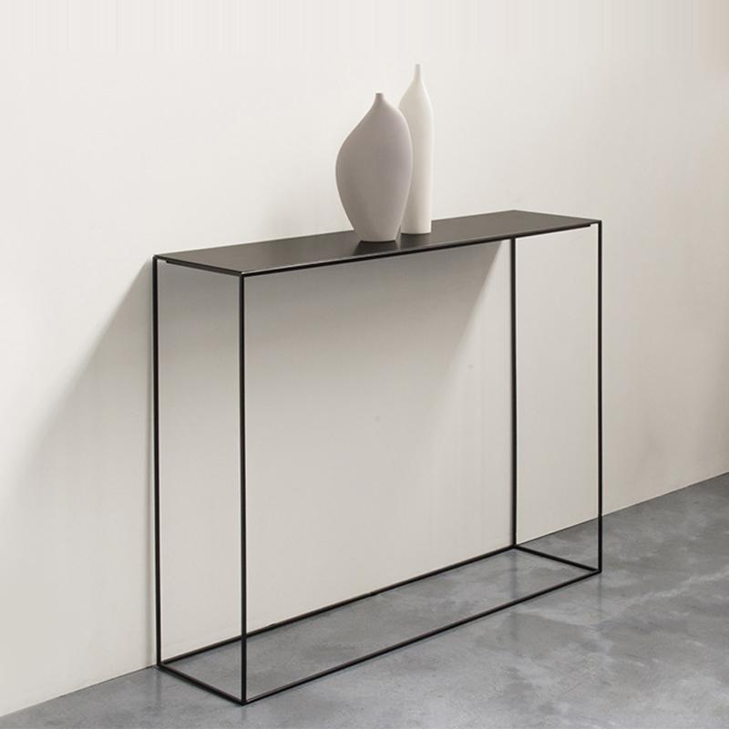 北欧玄关桌铁艺现代简约玄关台靠墙轻奢条案窄置物架30宽长条桌子