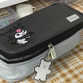 日本KOKUYO国誉笔袋大容量男女笔袋收纳创意铅笔盒双层拉链文具袋图片