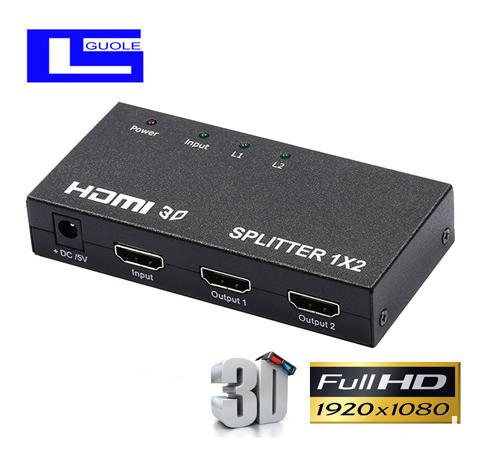 2k一拖二家电影音周边配件分支器分频器3C数码配件分配器4k