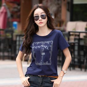 短袖夏纯棉女装2021年夏季新款t恤