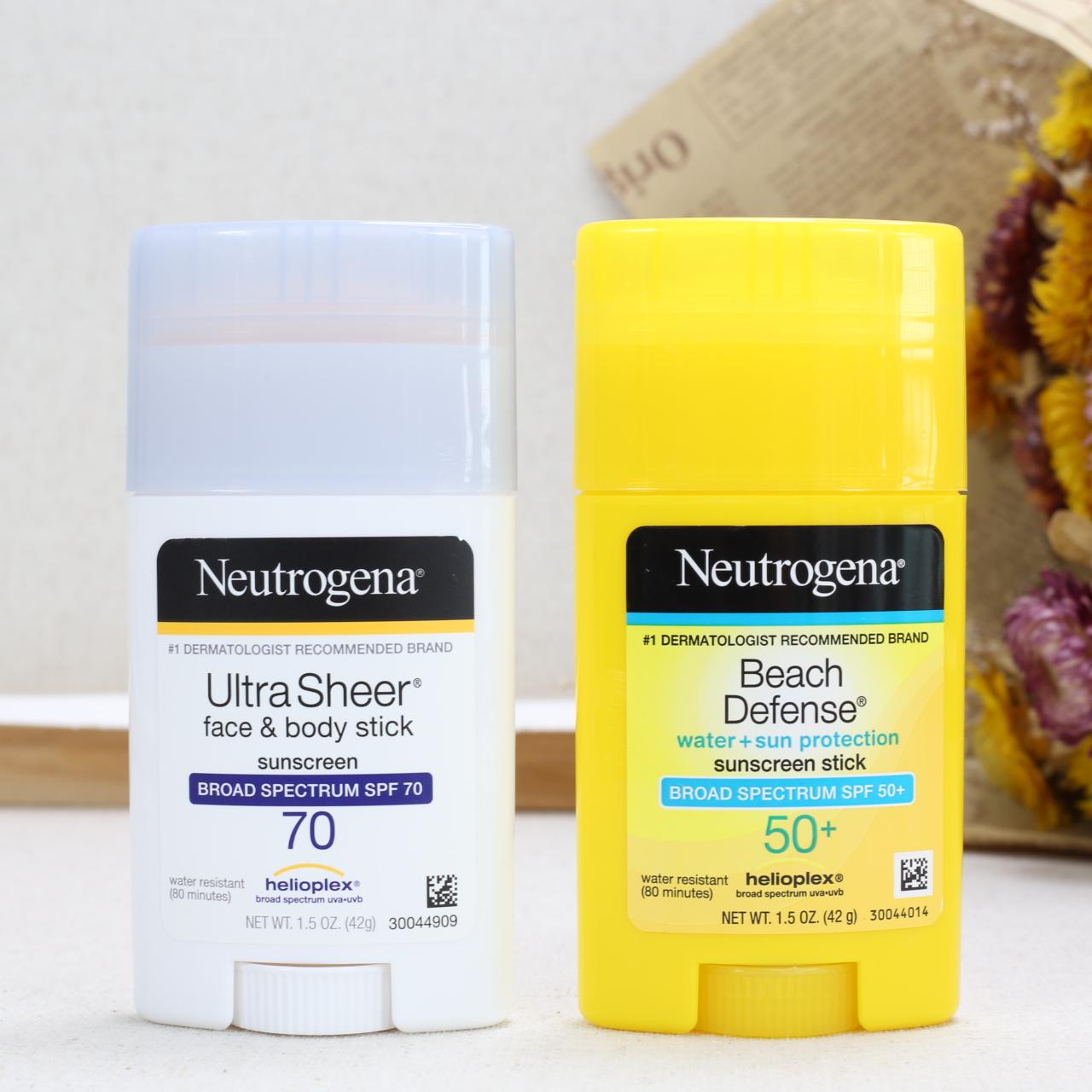 美国Neutrogena露得清海滩蓝黄管清爽防过敏安全隔离全身防晒棒霜