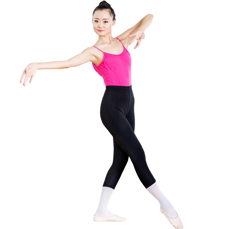 芭蕾舞蹈练功裤跳舞七分裤黑色紧身裤形体舞蹈裤棉氨纶裤
