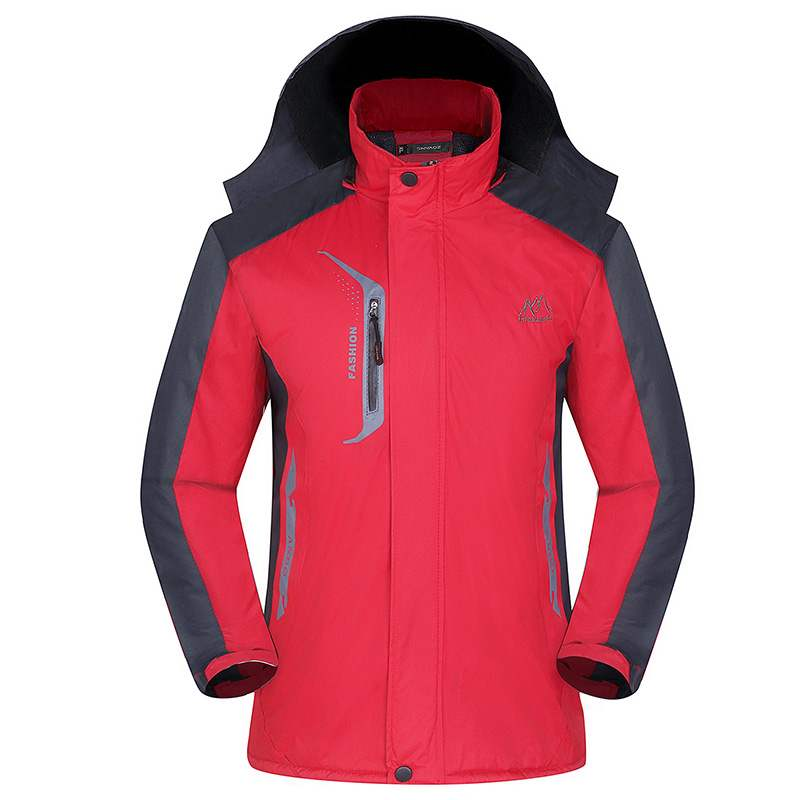 Boys outdoor clothes, assault suit, mens fashion coat, warm womens coat and cotton, middle-aged outdoor activities with hat
