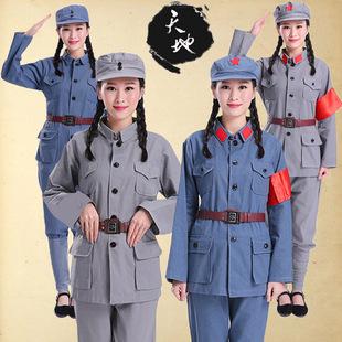 成人棉麻红军衣服八路军歌新四军演出服装长征老军装影视剧表演服