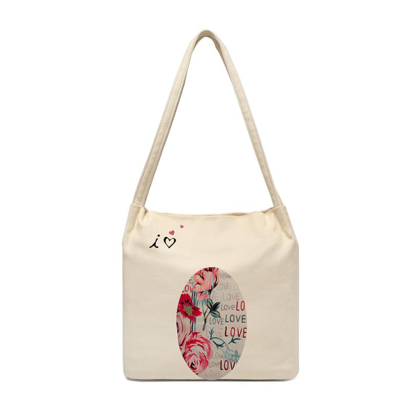 定制漫画手绘帆布少女萝莉单肩简约韩版ins日系学生大容量手提包