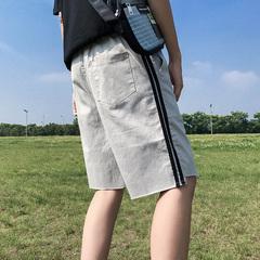 18新款宽松条纹休闲短裤韩版潮流五分裤子B326-DK04-P45