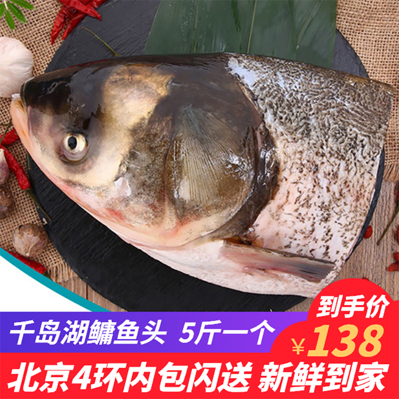 5斤/个千岛湖鱼头新鲜胖头鱼鳙鱼头鲢鱼头淡水鱼海鲜水产顺丰包邮