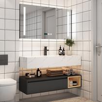 北欧浴室柜现代简约卫浴面盆卫生间洗漱台轻奢洗脸池洗手盆柜组合