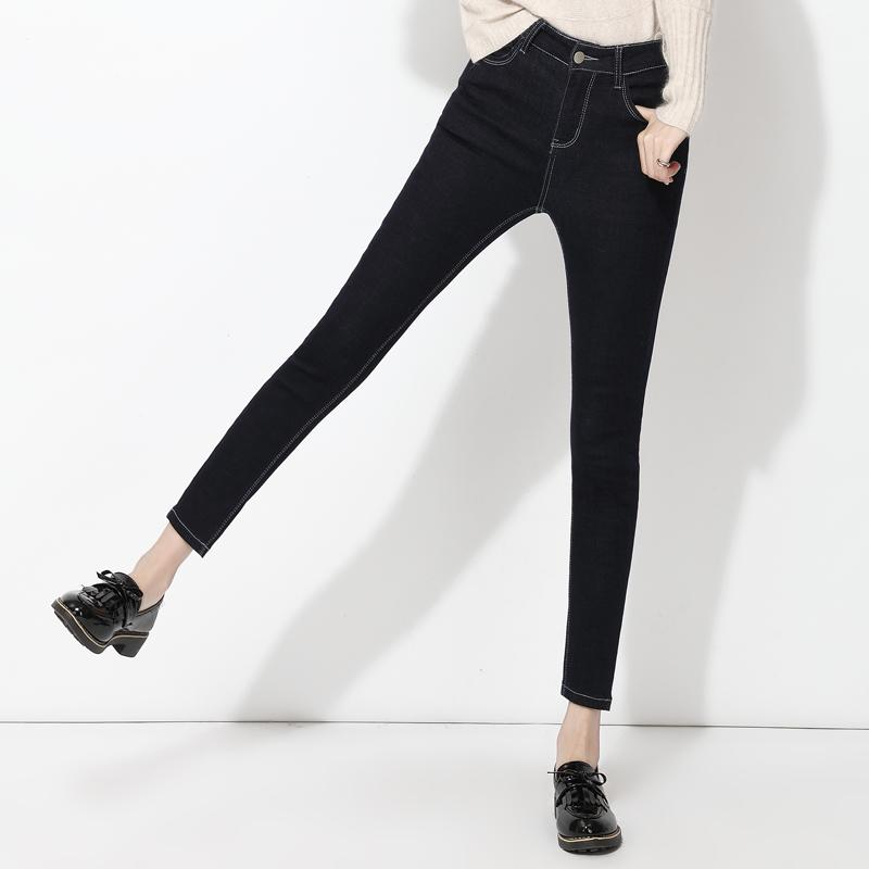 艾夫斯修身牛仔裤女2018秋装新款韩版显瘦女裤紧身小脚裤