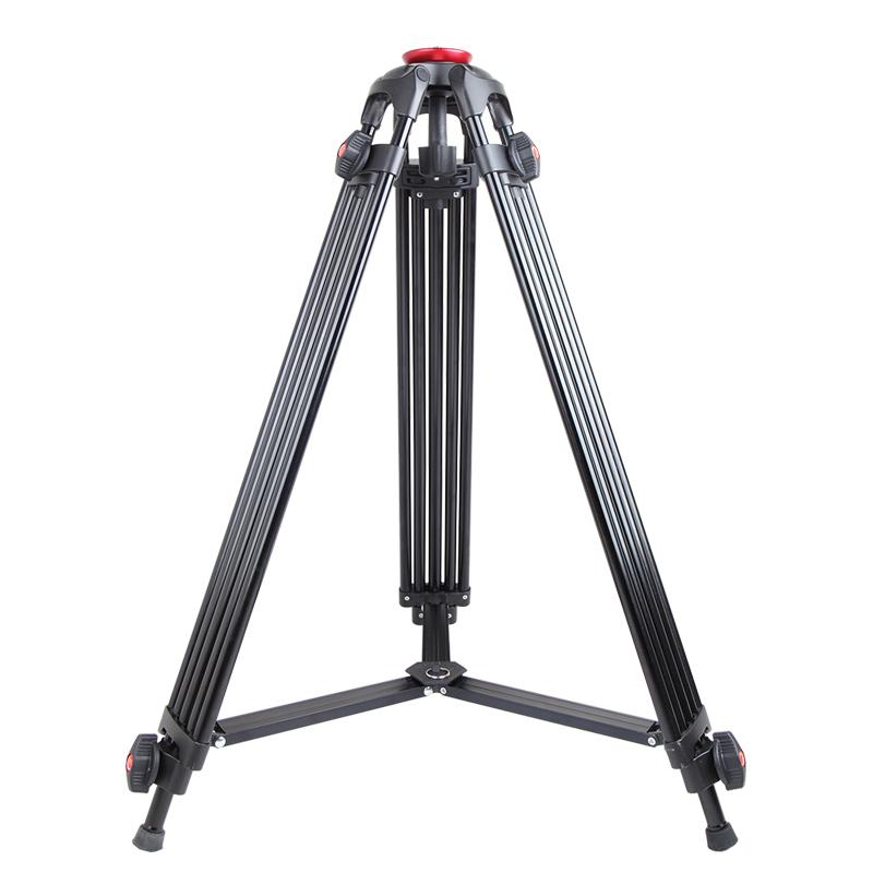 捷洋JY0508P滑轨轨道小摇臂稳固三脚架摄像机单反平口碗口三角架65mm不带不含云台铝合金专业3/8通用螺丝支架