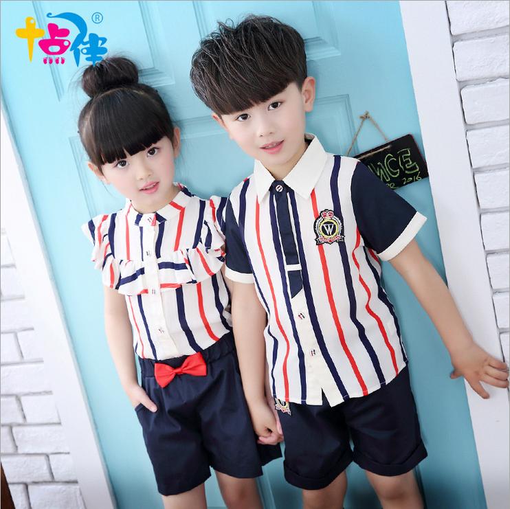 新款六一儿童节演出服表演服大合唱朗诵服幼儿园园服套装夏季班服