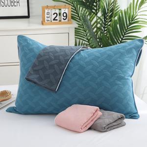 加厚三层纱布枕套一对装纯棉枕巾全棉枕头套高档欧式情侣枕芯套