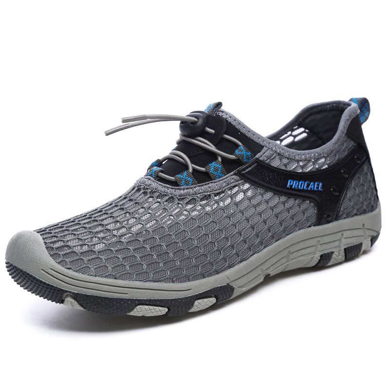 2020 new summer breathable mesh running shoes soft sole tracing River shoes drainage beach shoes mens shoes amphibious shoes