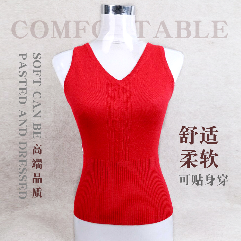 Cashmere vest womens sleeveless sweater in autumn and winter