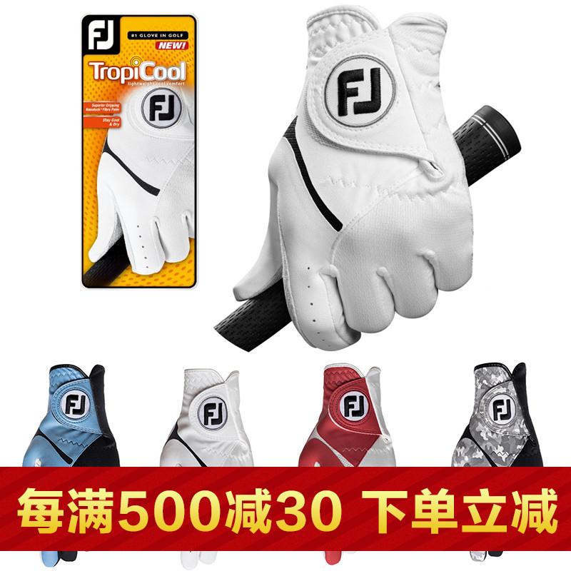 正品Footjoy 高��夫手套男款 FJ夏季防滑吸汗透��GOLF球布手套
