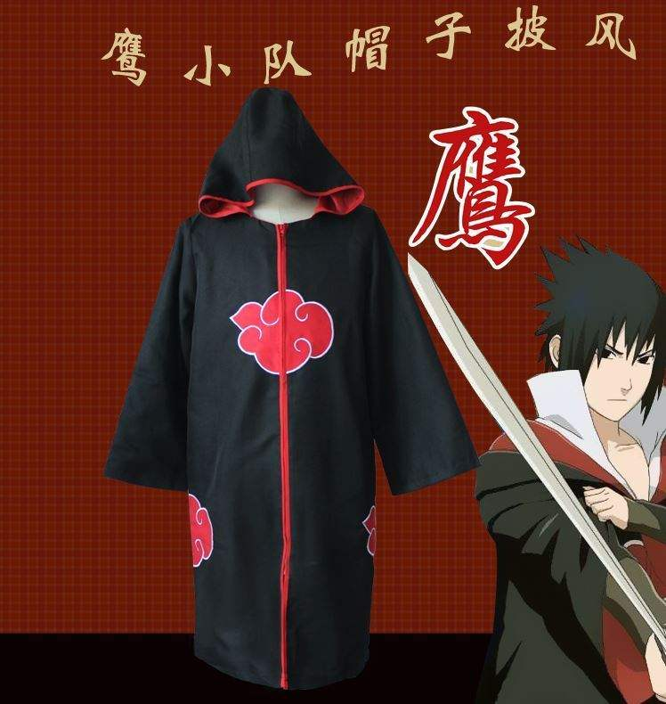 New Xiao organization Naruto anime surrounding Cape red cloud cos clothing mens yuzhibo Wuju family clothes