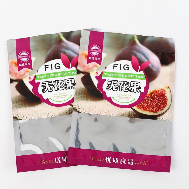 冻干无花果干威海特产水果干500g干果脆包装袋自立无花果密封袋空
