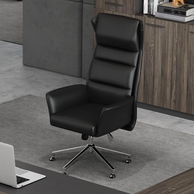 办公真皮老板椅可躺 现代简约大班椅家用 办公室转椅人体工学椅子
