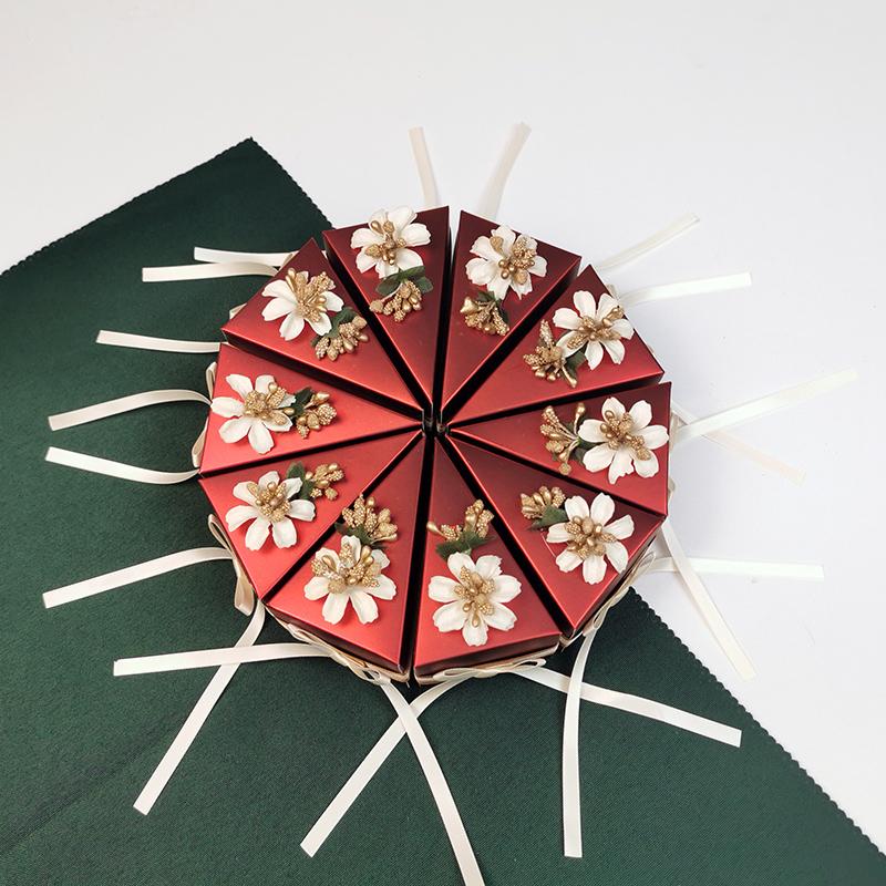 欧式喜糖盒结婚抖音创意婚礼礼盒森系高档纸质糖盒满月定制
