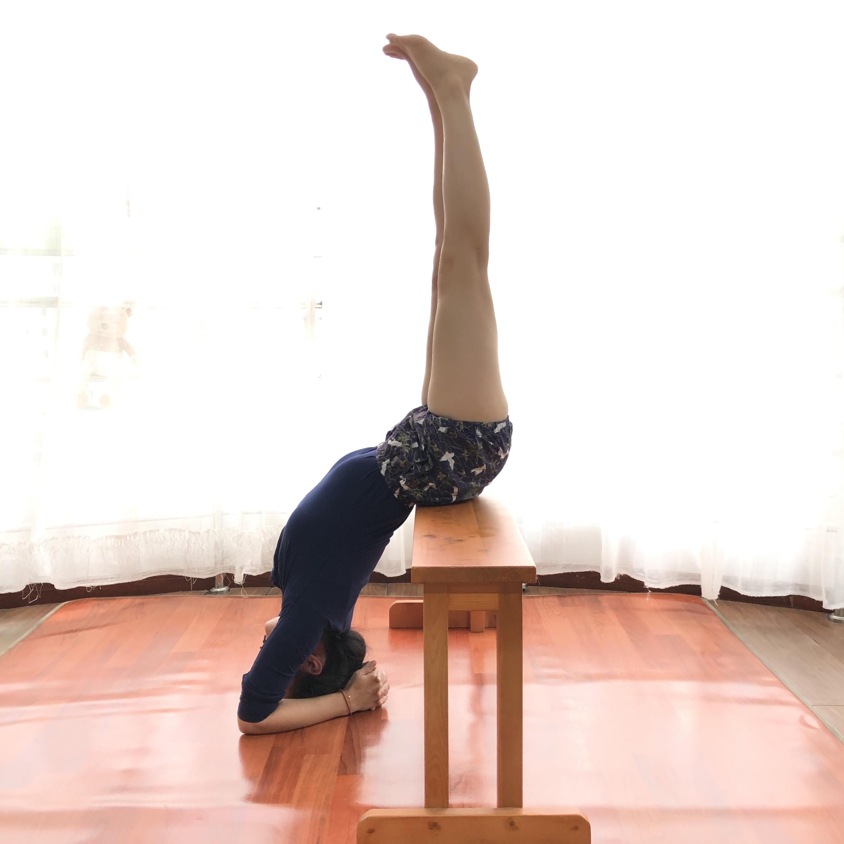 艾扬格瑜伽辅具窄长凳宽长凳肩倒立支撑器木制舒展器