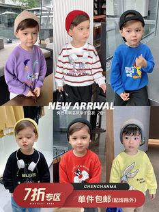 Ченчен Мама и Багз Банни детской одежды 2021 новый прилив мать и дитя мода западный стиль куртка мальчиков свитер осень