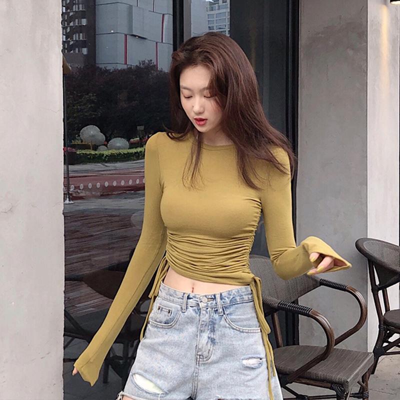 (用0.020000000000003元券)长袖t恤女初秋2019新款修身打底衫