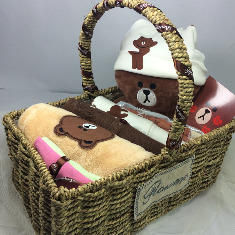 Four seasons baby gift box set newborn clothes baby full moon gift 100 days gift one year old supplies