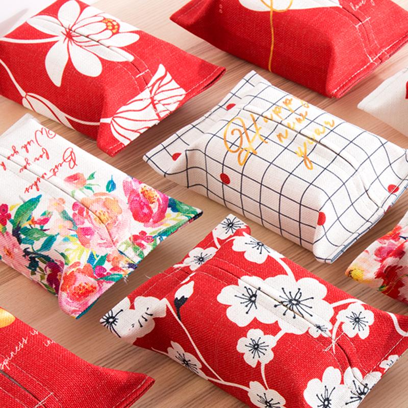 Ликующий новый год красный молиться благословение творческий ткань ткань книга дом насосные крышка гостиная творческий бумажные полотенца мешок еда полотенце бумажный мешок