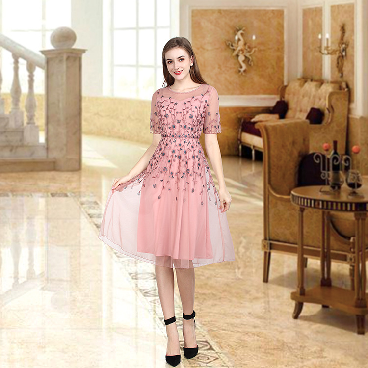 High end fashion womens dress in spring and summer of 2020