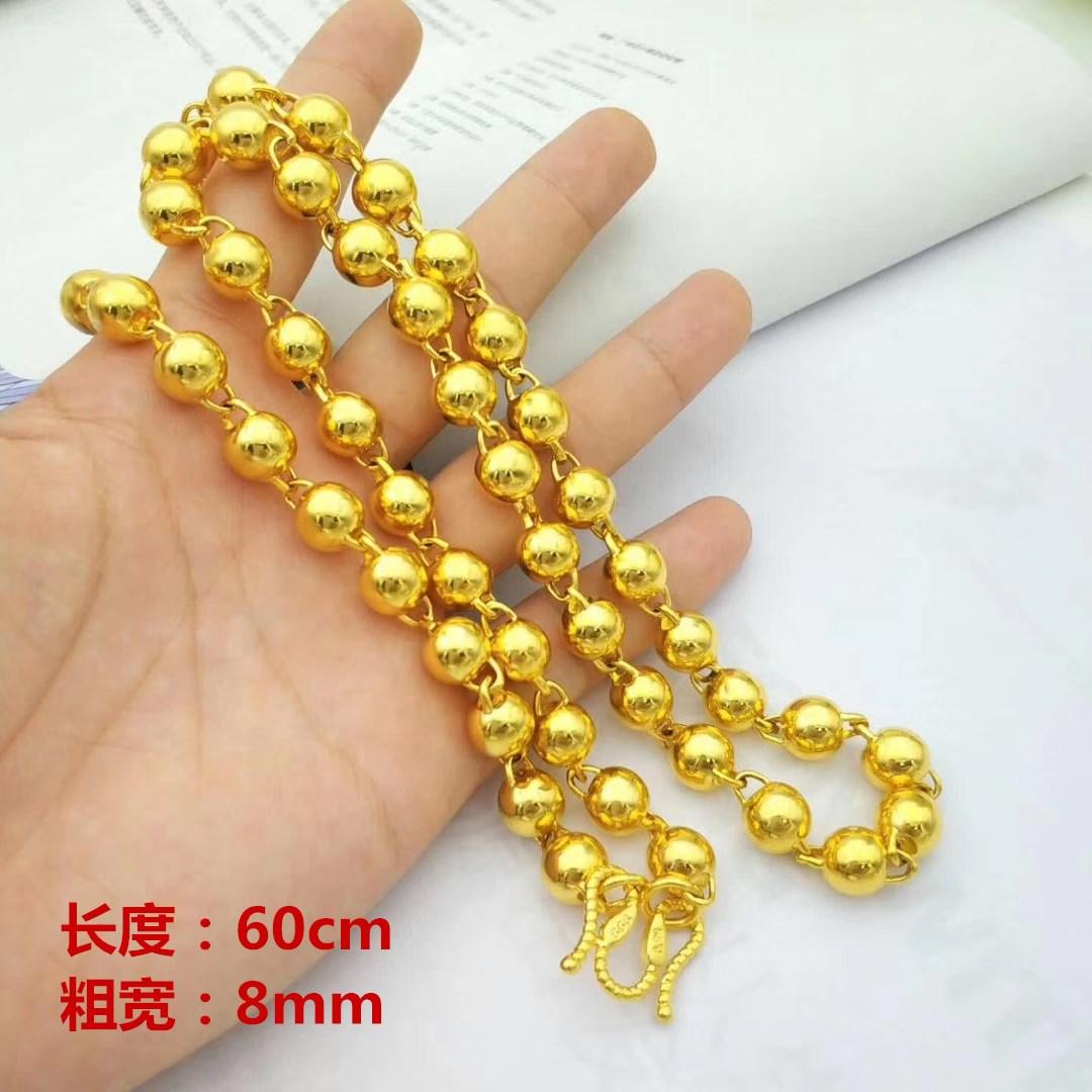 金のネックレスの男性の金のネックレスは本命年運の仏陀の光の顔の丸い玉のネックレスの999足の金の婚礼の爆発の金は彼氏に送ります。