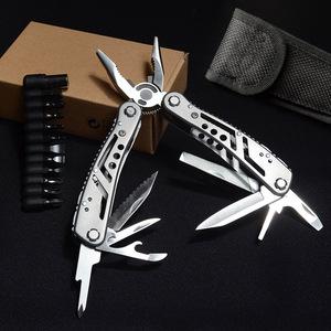 全钢多功能钳组合折叠小刀工具钳子随身应急多用军刀野营户外装备
