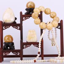 凌家天然琥珀蜜蜡雕刻吊坠珠手链手串桶珠圆珠水滴白蜜挂件直播