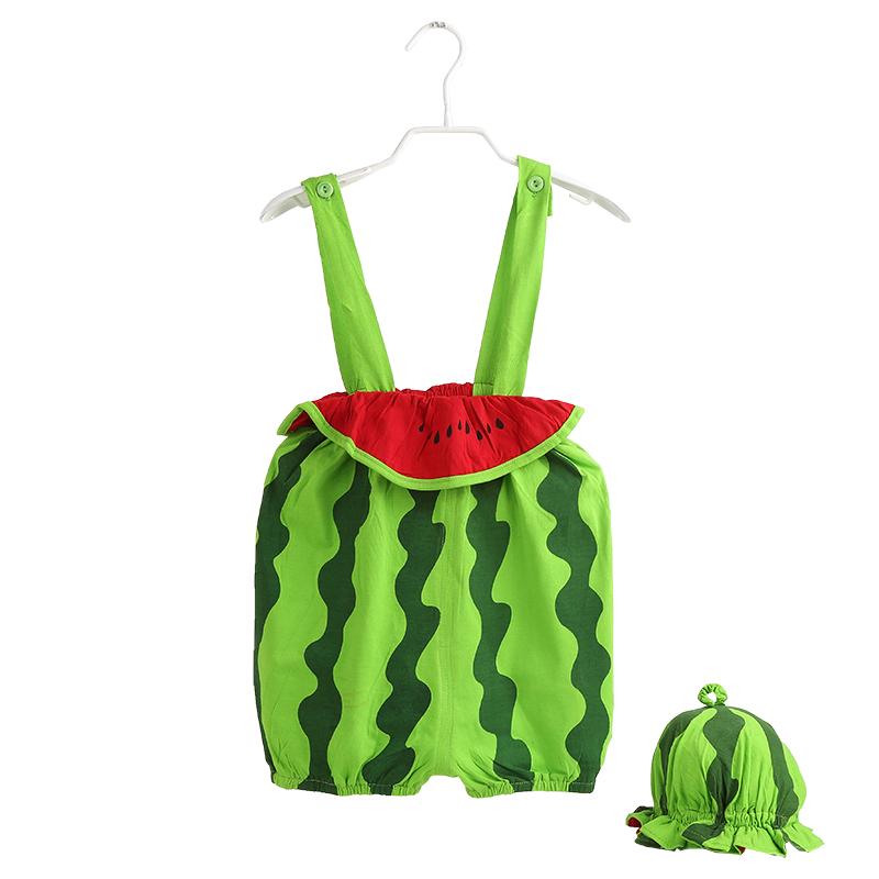 男女寶寶夏天 衣服嬰兒夏裝連體衣0 1 2 3歲幼兒 爬服吊帶