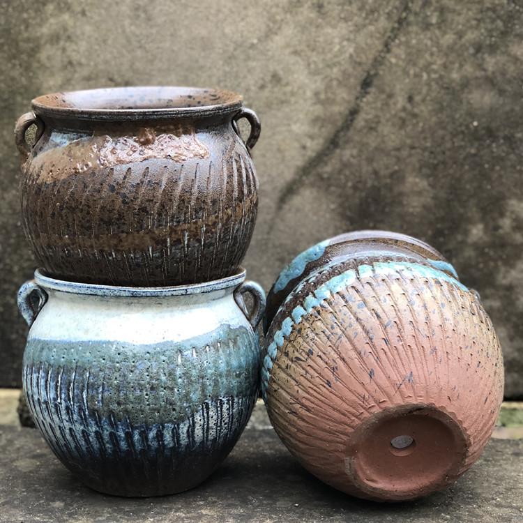 特价复古创意绿萝高多肉陶瓷花盆