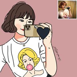 Q版头像卡通人物形象logo设计真人照片漫画定制作情侣头像