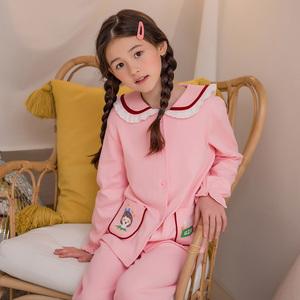 儿童睡衣女童春秋季纯棉长袖宝宝秋冬小孩亲子母女薄款家居服套装