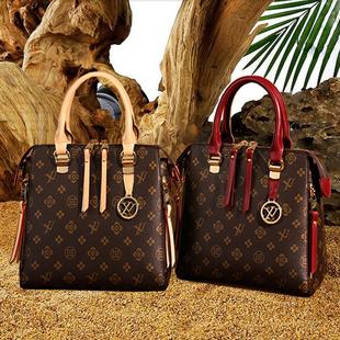 品牌奢侈品女包贝壳包老花真皮名牌手提包百搭时尚牛皮女士斜挎包价格