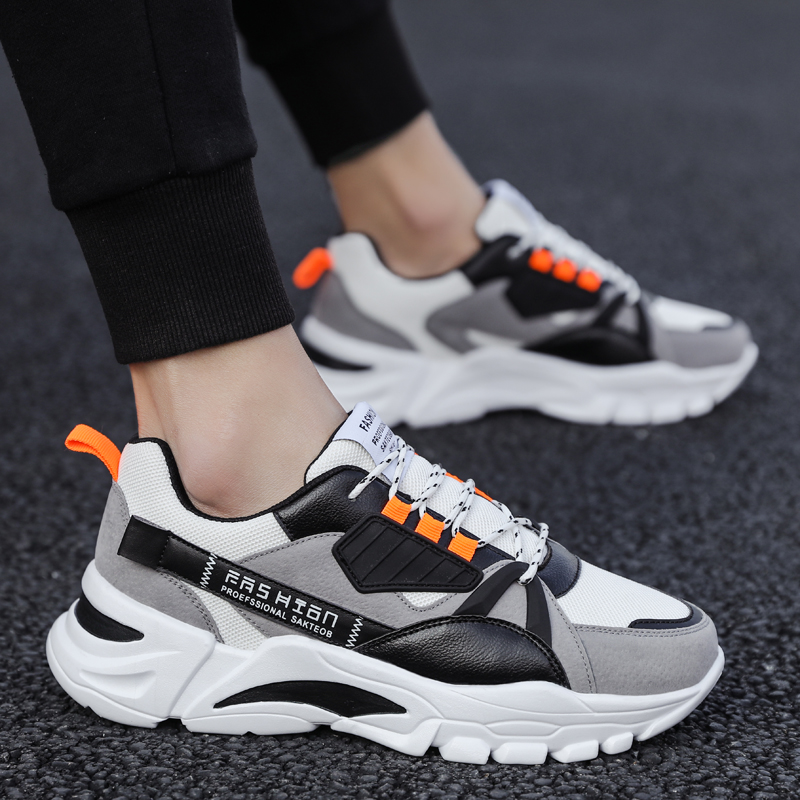 Mens shoes 2021 new spring mesh breathable daddy shoes mens fashion MuLinSen leisure sports shoes mens fashion shoes