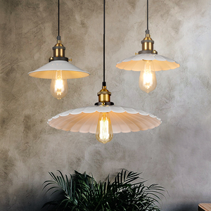 北欧复古工业风灯具 铁艺单头吊灯小雨伞吊灯餐厅吧台咖啡厅灯饰