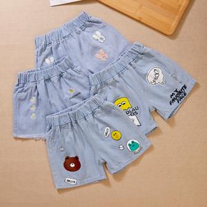 女童装牛仔裤2021夏季新款宽松中小童短裤洋气儿童女宝宝休闲裤子