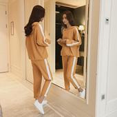 减龄两件套 洋气时尚 长袖 女装 女休闲时尚 欧洲站早秋新款 女神范套装